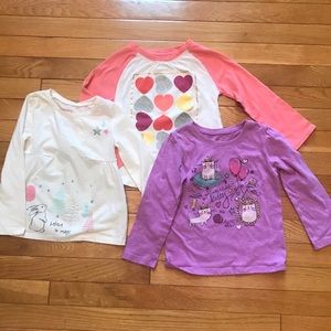 💕Size 4T cute long sleeve tops!